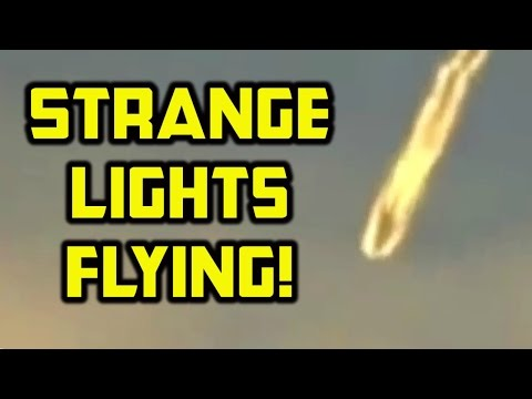 Amazing UFO sightings 2015 - China, Chile, Russia, USA - Strange lights flying