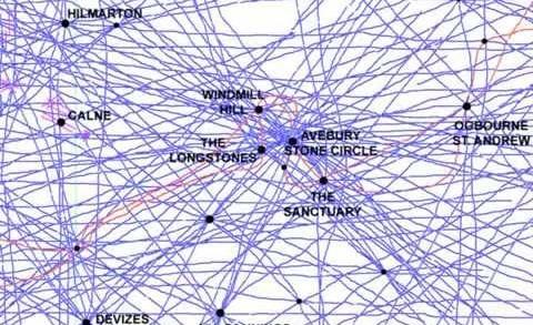 Ley Lines Maps Usa - 0425