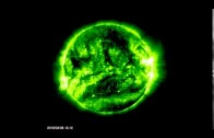 A HOLE IN THE SUN in 1080P HD Magnetic feilds cause big disturbance in Sun s Corona