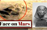 Clear Face Discovered Carved Into a Hillside Near Pyramid Shaped Structures on Mars