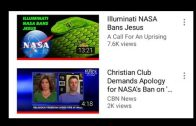 more proof NASA is hiding a Biblical Flat Earth nasa bans the name jesus on its news letters in 2016